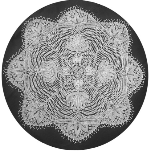 Otto - Round Doily In Knitted Lace Designed By Herbert Niebling
