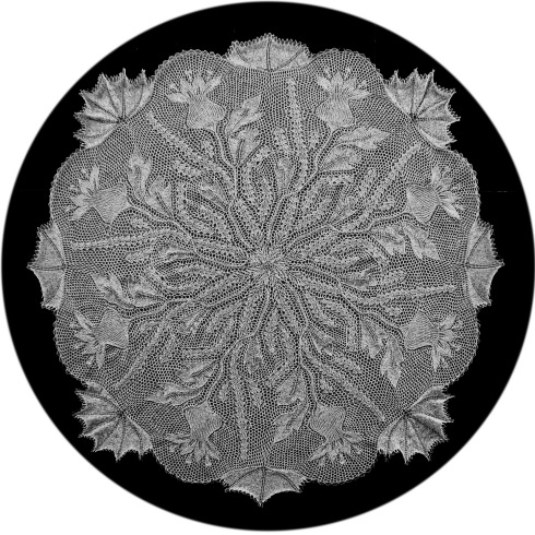 Steingarten - Round Tablecloth In Knitted Lace - Designed By Herbert Niebling - Knitted By Ulla 777